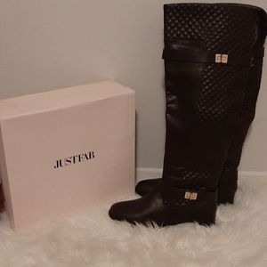 NWT Chocolate brown over the knee boots,